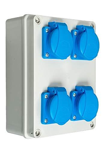 Baustromverteiler/Wandverteiler 4 x 230V/16A Schuko verdrahtet
