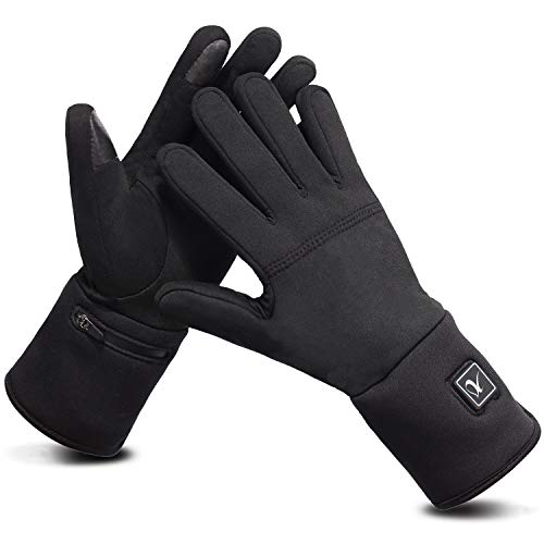 Liner Gloves Heated Hand Warmer Comfortable Thin Electric 7.4V 2200mAh Rechargeable for Men Women Water Resistant Thermal Heat for Winter Indoor Outdoor Sports Skiing Camping Hiking Hunting (M/L)
