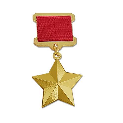 Kocreat COPIA Segunda Guerra Mundial Soviética Socialista Laborista Medalla de Trabajo Medalla de Oro Emblema URSS CCCP Ruso Insignia REPLICA
