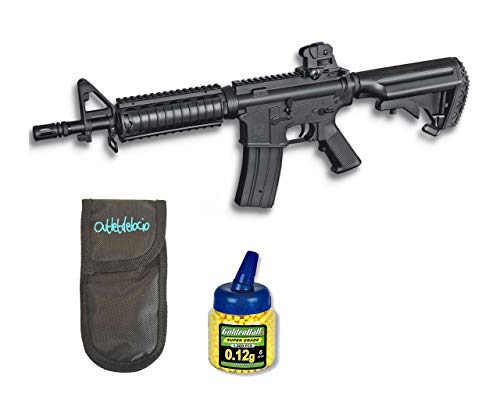 Outletdelocio. Pack Rifle Airsoft M4 A1 AEG Electrico. Calibre 6mm. + Funda...