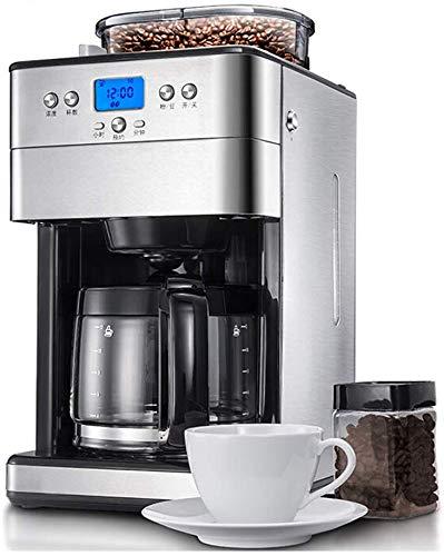 Dsnmm Koffiezetapparaat Machines Kantoor Huishoudelijke Grote Capaciteit Bonen Poeder Dual-Purpose Slijpen Amerikaanse Druppelen Volledig Automatische Koffiemachine 1.8L