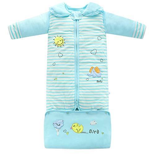 LUO'S Schlafsäcke Kinderschlafsack Abnehmbare langärmelige Newborn Anti-Kick Quilt Verlängerung Beutel-Umschlag-Typ Wachstum Schlafsack Unisex 0-8 Jahre alt (Color : Blue Heart, Size : 0-5 Years Old)