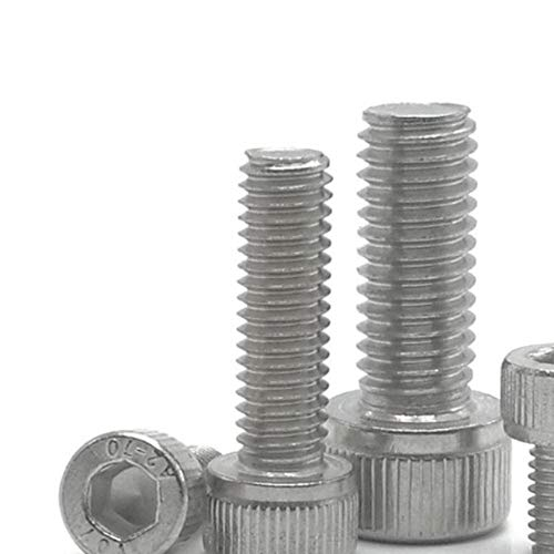 5-50Pcs M1.6 M2 M2.5 M3 M4 M5 M6 M8 * L DIN912 Roestvrij staal Zeskant inbusboutschroef of zwarte kwaliteit 12,9 metrische schroeven, 304 roestvrij staal, M1.6 50st