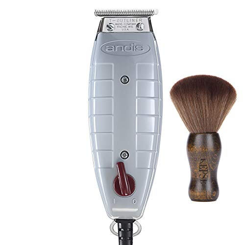 Andis Professional T-Outliner Beard/Hair Trimmer with T-Blade, Gray, Model GTO (04710) Bundled with a KEPSE Neck Duster