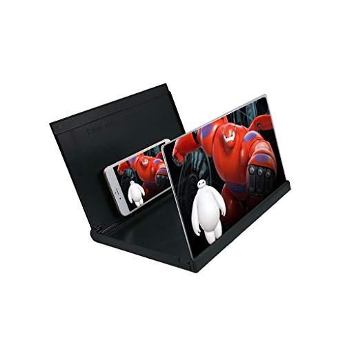 MAGF 12-inch 3D mobiele telefoon-scherm vergrootglas 3X desktopvergrootglas met standaard voor elke smartphone iPhone XS/XR/5/5s/6/6s/7/7s/8/8s zwart blauw wit vergrootglas