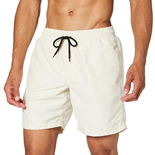Amazon-Marke: find. Herren Bermudashorts, Elfenbein (Off white), M, Label: M
