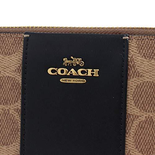 コーチ(COACH)『アコーディオンジップウォレットカラーブロックシグネチャーキャンバス(31546)』
