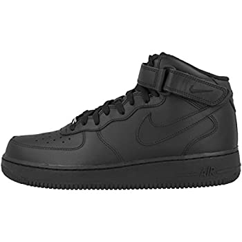 Nike Men s Air Force 1 Mid Basketball Sneakers Black Size 7.5 D  US