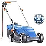 Hyundai HYM3200E Electric Lawnmower, 32cm Cut Width, 1000 W Corded, Lightweight, Lawn Mower