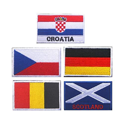 BESPORTBLE 5 Piezas Parches Banderas Nacionales Diy