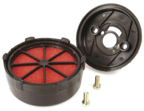MALOSSI Rennluftfilter E3C, SHB 16.10/16.12/16.16, für Vespa 50/N/L/R/S/SS/Revival/Special/90/R/SS/125 VMA1 schwarz, Innenfilter: rot