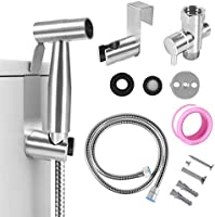Handheld Bidet for Toilet, 2 Water Pressure Option, Toilet or Wall Mounted, Multi-function for Baby Cloth Diaper...