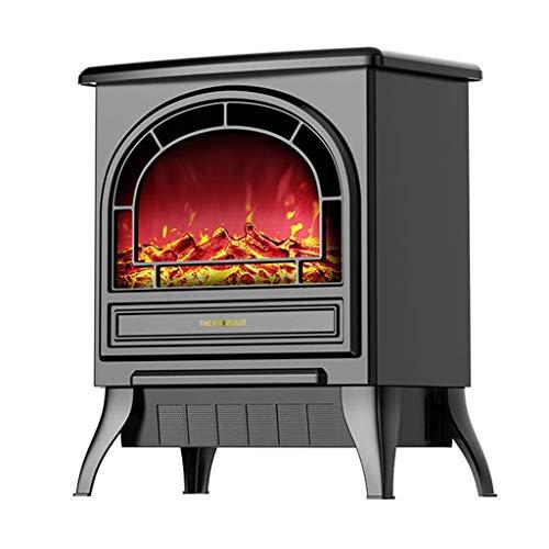 Calefactor Chimenea eléctrica portátiles de mesa ajustes de calor altura de 16 pulgadas calentador 2 1800 Superficie calentador calentador de estructura de metal W 3D Llama & Quiet Fan - whiteelectric