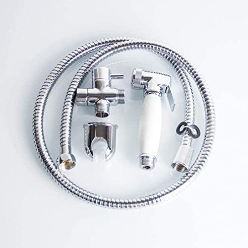 Handhållen bidé spruta rostfritt stål spray toalett bidé duschhuvud med slang och fästehållare - toalett sprutpistol set bidé