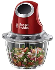 Russell Hobbs 24660-56 Desire Mini Doğrayıcı ve Blender, 200 W, 1lt, Cam/Plastik, Kırmızı