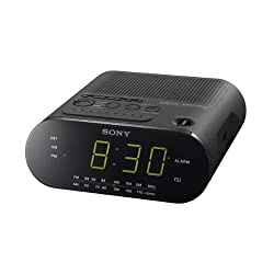 Sony ICF-C218-FM/AM Alarm Clock Radio with Large LED Display, 220 to 240-volt