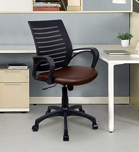 TIMBER CHEESE X10 Ergonomic DESH MESH Chair (with Warranty) Make in India Concept (Standard, Brown)
