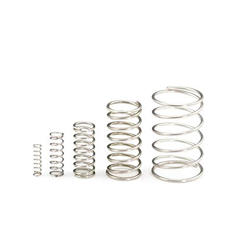 XYBW 50pcs/Lot Spring 1.0 * 12 * 10-50 Small Coil Compression Spring,Stainless Steel Springs,Small Spot Micro Compression Spring for 3D Printer (Color : 40mm)