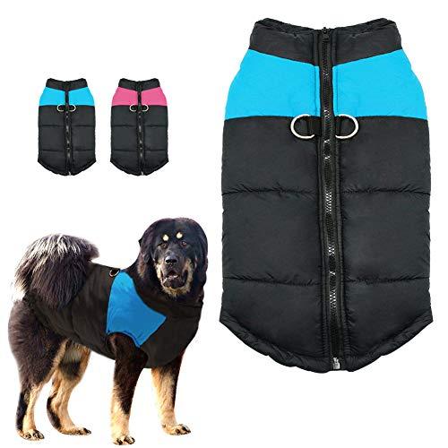 Grote hondenkleding, hondenkleding, hondenkleding, dikke warme katoenen mantels in de winter, winterjas, geschikt voor middelgrote en grote honden, XX-Large, roze