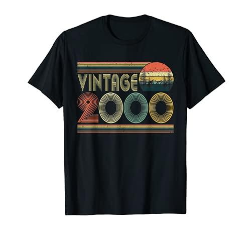 Born In 2000 Vintage 21st Birthday Men Women 21 Years Old T-Shirt