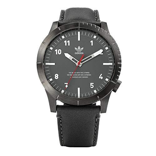 adidas Relojes Hombre Cypher_Lx1. Correa Horween Reloj De Cuero, 22 Mm Anchura (0,42 Mm) Gunmetal/Carbón