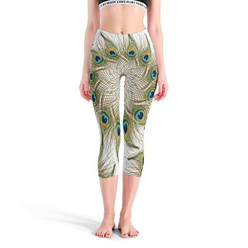DAMKELLY Store Pantalones de yoga de cintura alta para niñas, pantalones de entrenamiento digitales, pantalones de entrenamiento para mujer, color blanco, talla S