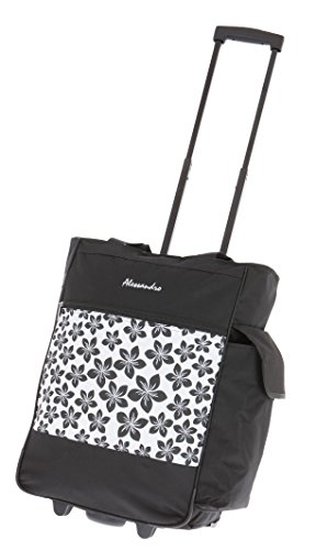 ALESSANDRO Einkaufsroller EInkaufsroller Shoppingtrolley Einkaufstrolley (Flower White)
