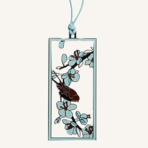 Zhongxingenggeng Segnalibro/Segnalibri/Bookmark segnalibri Libro Holder/su Due Lati Hollow segnalibro del Metallo/Cartone/Blu, Rosa (Color : Blue)