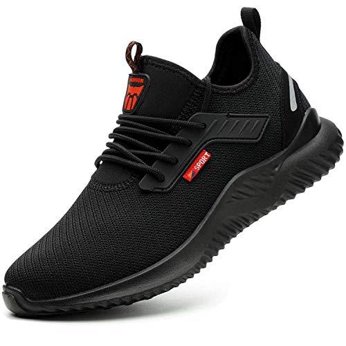 Veiligheidsschoenen werkschoenen heren dames s3 stalen neus schoenen unisex ademend sport stalen neus lichtgewicht beschermende schoenen