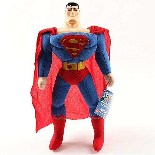YUNMEI Muñeca de Peluche de Superman 40cm Marvel The Avengers Spiderman Batman Superman Iron Man Hulk Capitán América Thor Peluches Peluches para niños Regalos