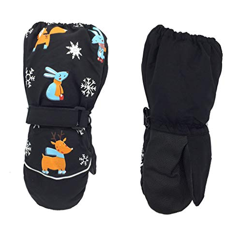 Learn More About Cher9 Winter New Children Print Cartoon Deer Rabbit Thickening Ski Gloves, Kids W...