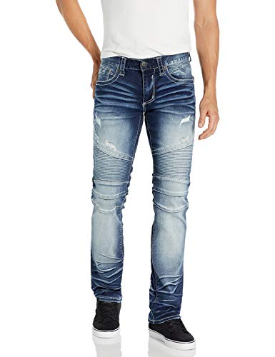 Affliction Men's Gage Fleur, Blue Mayhem, 30