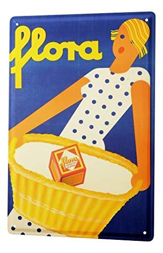 LEotiE SINCE 2004 Blechschild Dekoschild Küche Garage Fun Küchen Deko Waschmittel Frau Zeichnung Metallschild 20X30 cm