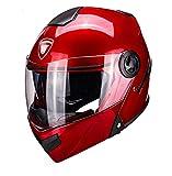 Casco de motocicleta eléctrica casco de doble espejo aprobado por DOT ECE-YEMA YM-925 Casco de moto de cara completa C,57-59CM