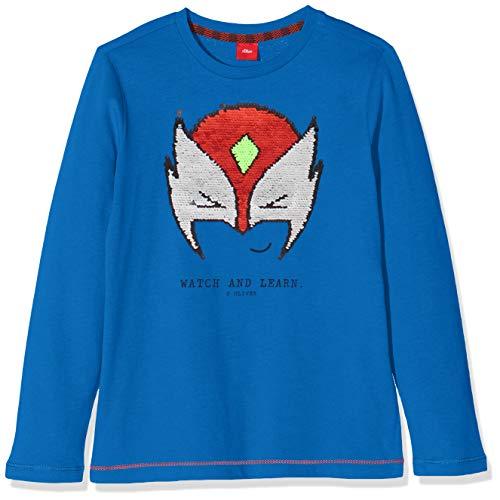 s.Oliver Jungen 63.909.31.8856 T-Shirt, Blau (Blue 5545), 128 (Herstellergröße: 128/134/REG)