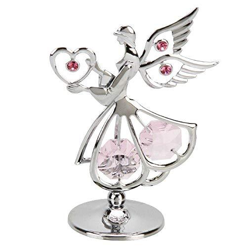Crystocraft - Mini angelo sacro placcato in cromo con cristalli Swarovski