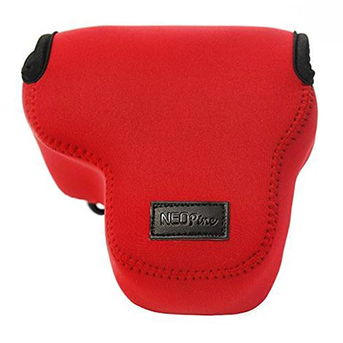 First2savvv QSL-RX10II-08 rot Flexible Neopren DSLR / SLR Kameratasche für Sony Cyber-SHOT DSC-RX10 II . RX10M2