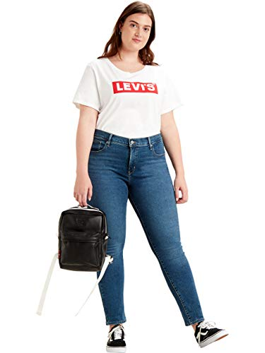 Levis® Damen Jeans 311 Shaping Plus Skinny Fit - Blau - Bogota Paris Fade Plus Stretchjeans 84% Baumwolle, Größe:W18 S, Farbvariante:Bogota Paris Fade Plus (0089)