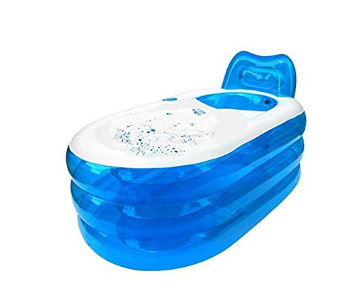 OOFWY PVC portátil Plegable Inflable de hidromasaje para Adultos bañera Inflable (130 * 70cm * 70)