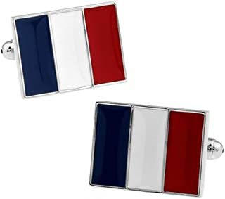 boutonni/ères France Boutons de manchette Drapeau Fran/çais