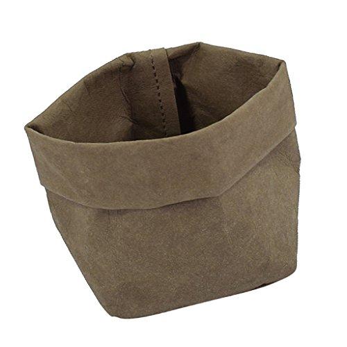 Sharplace Waschbar Kraftpapier Beutel Container Papier Tasche Sukkulenten Pflanzen Topf Beutel Blumentopf Cover Home Aufbewahrungstasche - Olivgrün, 10x10x20cm