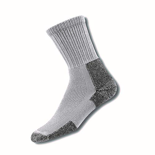 Thorlos Unisex KX Hiking Thick Padded Crew Sock, Grey, Large