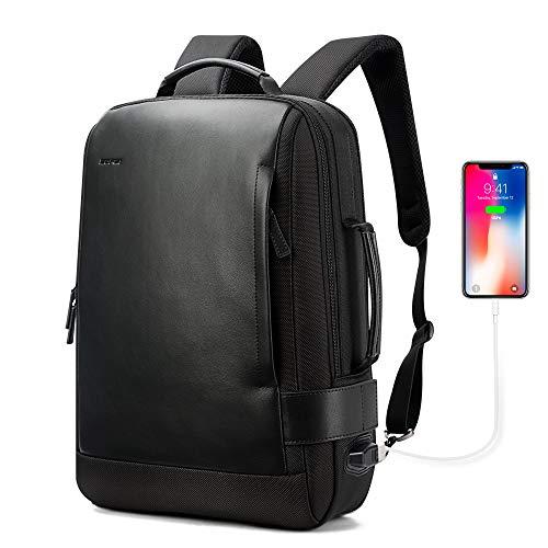 BOPAI Business 15.6 Zoll Laptop Rucksack Computer Reise Rucksack USB Aufladung & Wasserabweisender College Herren Daypack, Schwarz