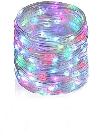 ZJDM Tubo de luz como decoración navideña -10M Tubo de luz Multicolor...