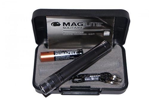 Mag-Lite Solitaire avec Microbatterie, Étui, titan-grau