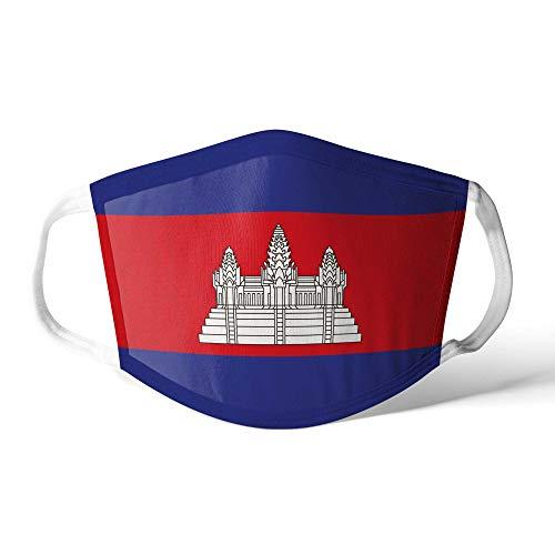 M&schutz Maske Stoffmaske Klein Asien Flagge Kambodscha Wiederverwendbar Waschbar Weiches Baumwollgefühl Polyester Fabrik