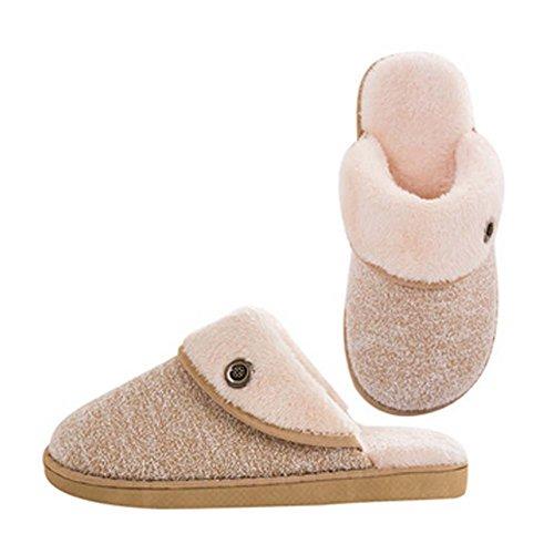 La mode pantoufles en coton hiver pantoufles quelques pantoufles chaud, Hommes, Kaki