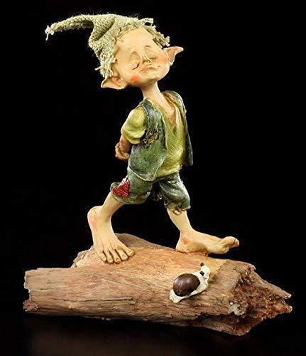 Fantasy Pixie Kobold Figur - Hier Bin ich der Chef - einzeln | Dekofigur, Handbemalt