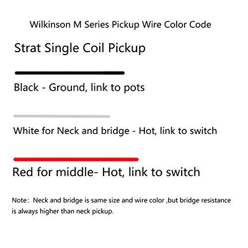 Wilkinson LOW GAUSS Pastilla de bobina simple de cerámica de tono vintage para guitarra estilo Strat medio, blanco