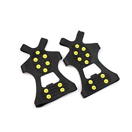 YGLONG Crampones 1Pair S/M/L 10 Studs Anti-patín Snow Gripper Escalada Zapato Spikes Grips Pendientes Sobresshoes Crampones Zapatos Spike Crampones Ligeros (Shoe Size : L)